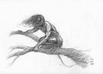 Tarzan The Ape Dude by McHughstudios