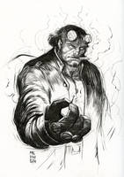 Hell Boy take 2 in ink by McHughstudios