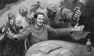 Earthdawn Game Master at work... by McHughstudios