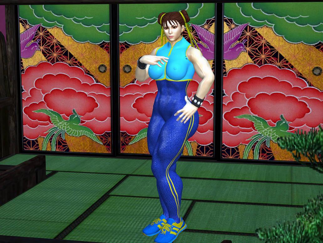 Chun Li alpha suit by XeNmAs-Lara