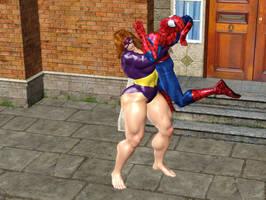 Titania Bearhug Spiderman by XeNmAs-Lara