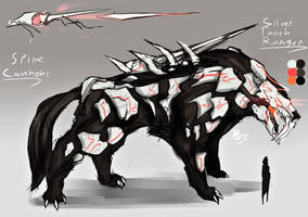 RWBY Grimm - Silvertooth Ravager (Commission) by Batomys2731