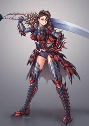 Monster Hunter World OC - Allison Fiore by Batomys2731