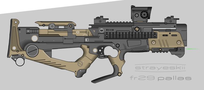 Strayeskii Firearms \\ FR29 Pallas PDW by prokhorvlg