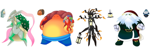 Fakemon: 4 seasons, 4 Holidays, 1 whole year by That-One-Leo