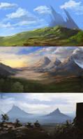 Fantasy landscapes by jjpeabody