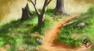 Woodland Path by jjpeabody