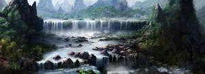 Legendary Waterfall by jjpeabody