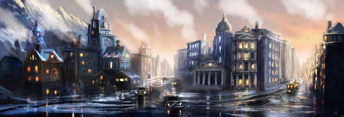 Steampunk City 2 (Commission) by jjpeabody