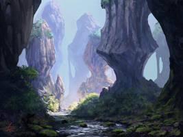 Rocky Landscape by jjpeabody