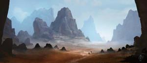 Arid Desert Landscape by jjpeabody