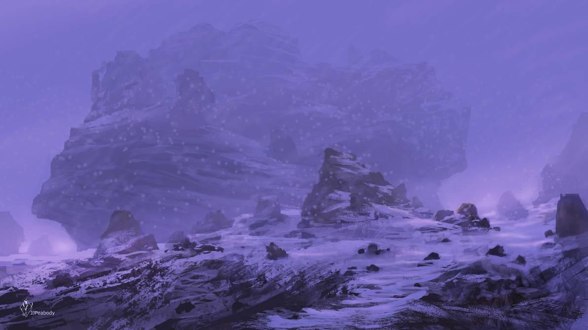 Snow Fantasy Landscape by jjpeabody