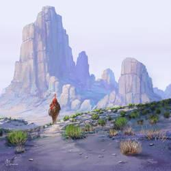 Desert Traveler by jjpeabody