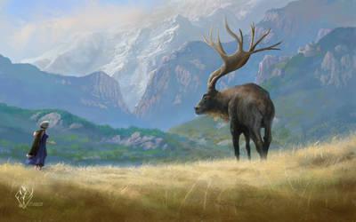 Encountering the Elk by jjpeabody