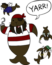 Pirate Walrus by Teh-Lady-Randomness