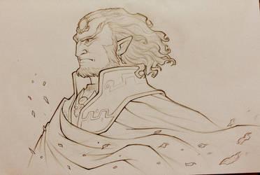 Ganondrof Sketch by pixonsalvaje