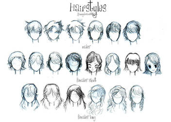 :o: Hairstyles by YazzyDream