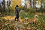 The boy and the dog by Lubov2001