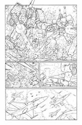Transformers 9 - P.7 Lineart by GuidoGuidi