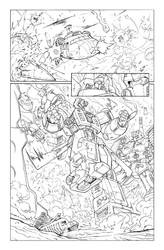 Transformers 9 - P.8 Lineart by GuidoGuidi