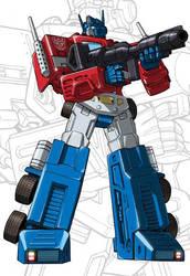 IDW G1 Card - Optimus Prime by GuidoGuidi