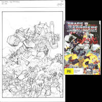 Masterforce DVD cover sketch by GuidoGuidi