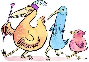 bird parade for amb0rg by theNakedCupcake