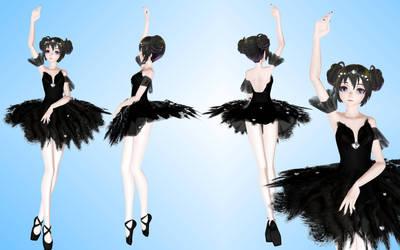 Black Swan (ballerina) Model 145 MMD by NekaSan