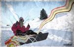 Postcard from Meribel by Tim-Wilko