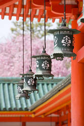 Lanterns of Heian-Jingu by Tim-Wilko