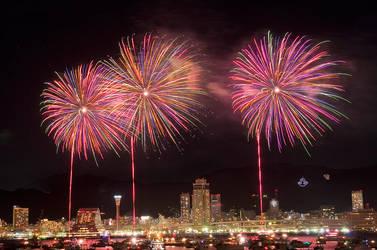 Kobe Fireworks 2011 by Tim-Wilko