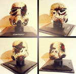 The Destroyed Trooper - Custom Star Wars Helmet by Pop-custom