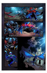 Chaotic Flux #1 page 6 colored no lettering by Kroenen979