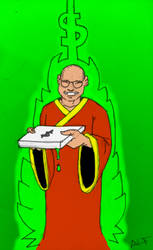 Dalai Lama Delivers (in technicolor) by alfonsoegarcia