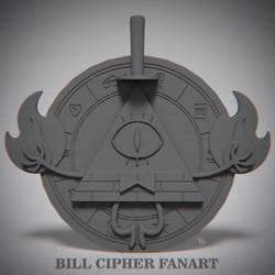 Bill Cipher fanart emblem by Beffana