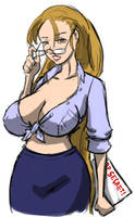 the bespectacled ms meele by samutoka