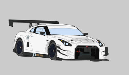 Nissan Gt-r Gt3 (Colored) by Bertasvo