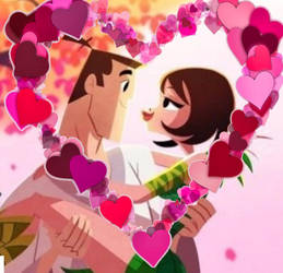 Samurai Jack And Ashi In Love Valentine's Day by Samurai-MikeSJKB