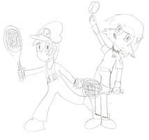 Jim and Sally Tennis by Jim-Nickabocker