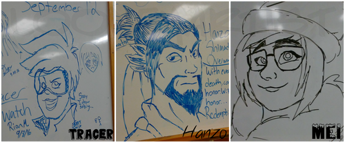 Overwatch Whiteboard Doodles by LooneyArtist