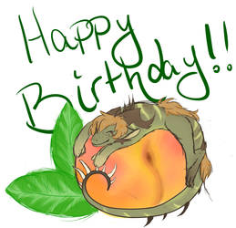 Happy Birthday,  ChirreTheDragoness by Tenno-chan