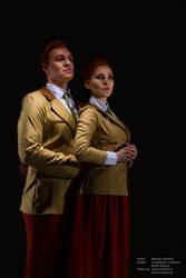 Lutece cosplay by BRAINGASM Cosband by CosbandBRAINGASM