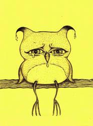 sad little owling by mollyslips