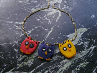 owl necklace by mollyslips