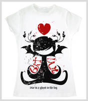 LOVE IS A GOSTH IN THE FOG TEE by amota