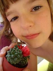 A girl with a cactus. by RableAnn