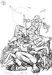 Bellladonner vs Werewolves - Sketch 2 B by KeIIion
