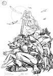 Bellladonner vs Werewolves - Sketch 2 C by KeIIion