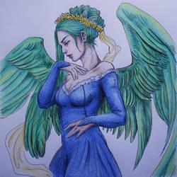 Lineart: Angel by JowieLimArt by Matschkuchn