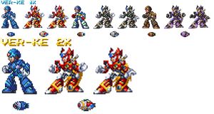 X and Zero ver.ke (X4~6 Style, Mockup Only) by hansungkee